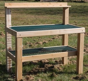 Potting Table Bench For Gardeners With Wheels Made In