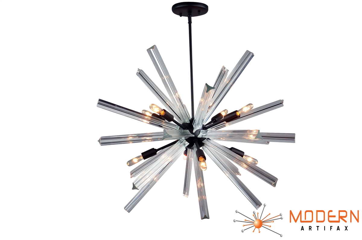 Sputnik Chandelier Oil Rubbed Bronze Finish 27 In