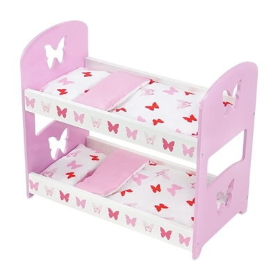 18 Inch Doll Furniture Butterfly Collection Bunk Bed