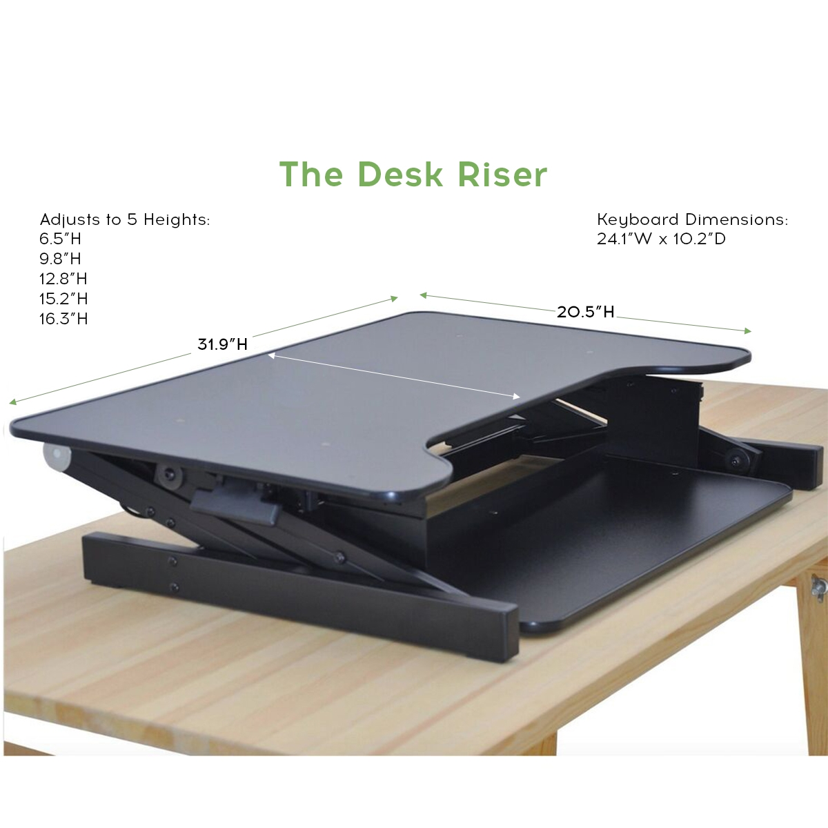 Standing Desk The Deskriser Height Adjustable Heavy Duty Sit To Stand Office Desk Supports Up To 50 Lbs 32 Wide Sit Stand Up Desk Converter