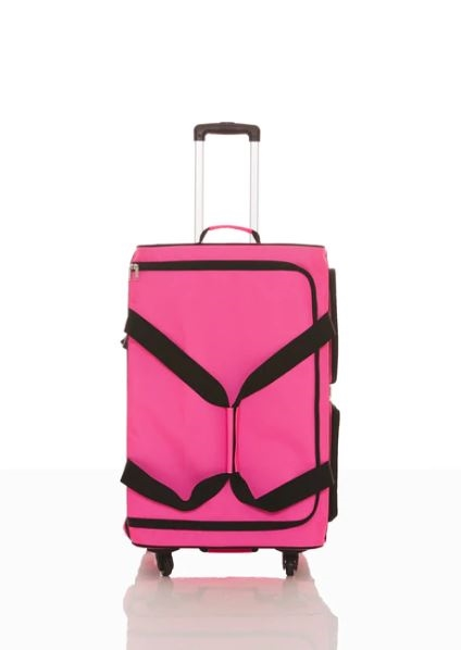 rac n roll pink expandable dance bag 4 0 with rack large