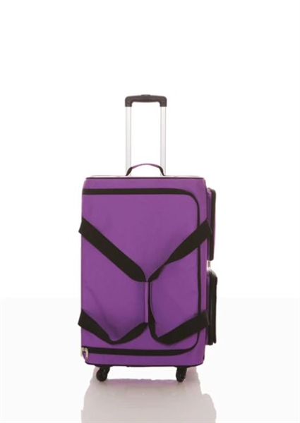 rac n roll purple expandable dance bag 4 0 with rack large