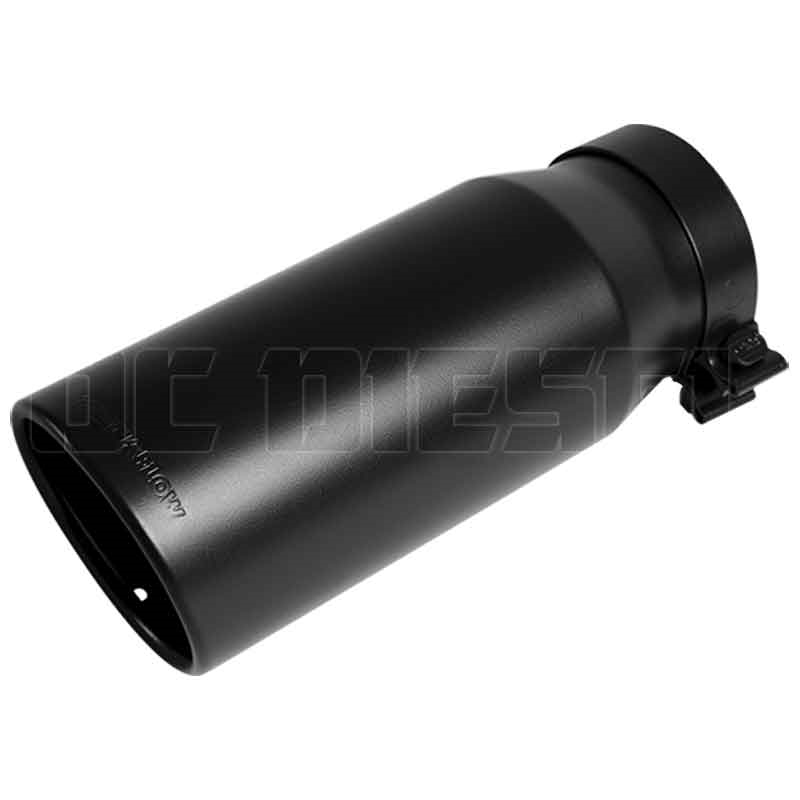 magnaflow 35239 6 black clamp on round double wall rolled edge angle cut exhaust tip