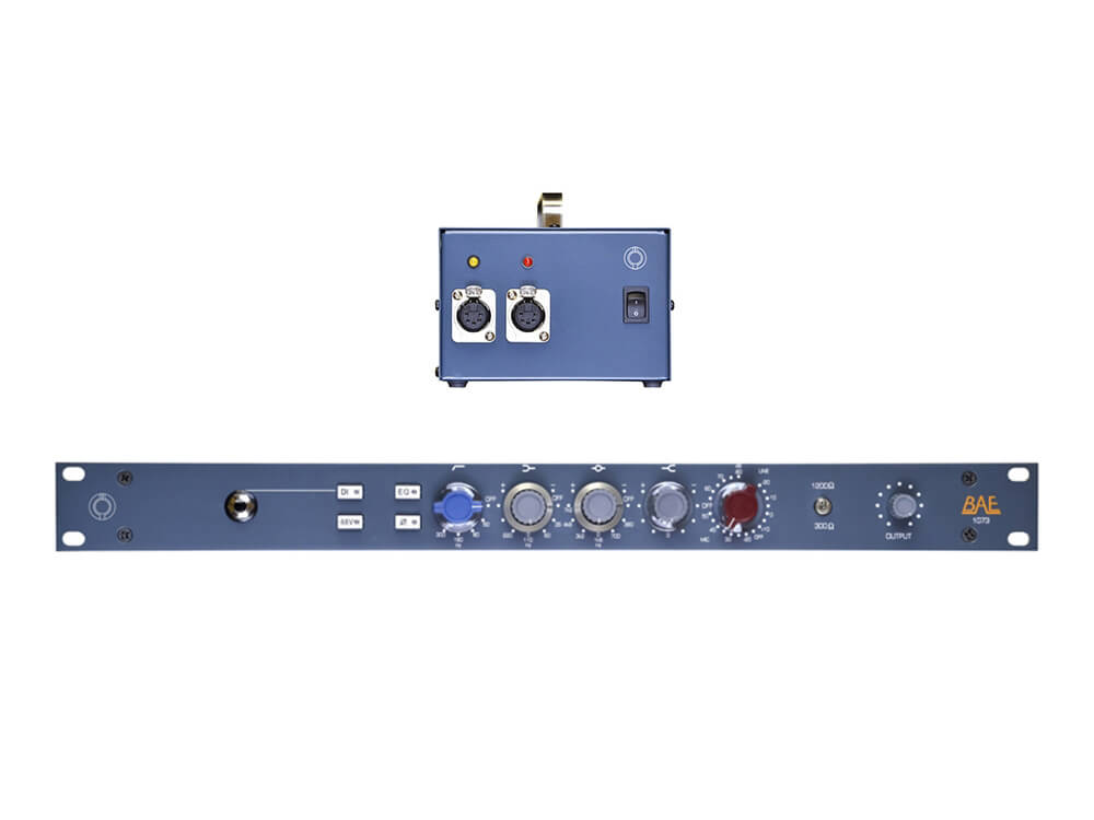 bae 1073 19 single channel mic pre eq with power supply