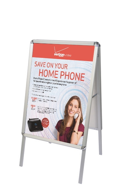 a frame snap open sidewalk poster stand stand only