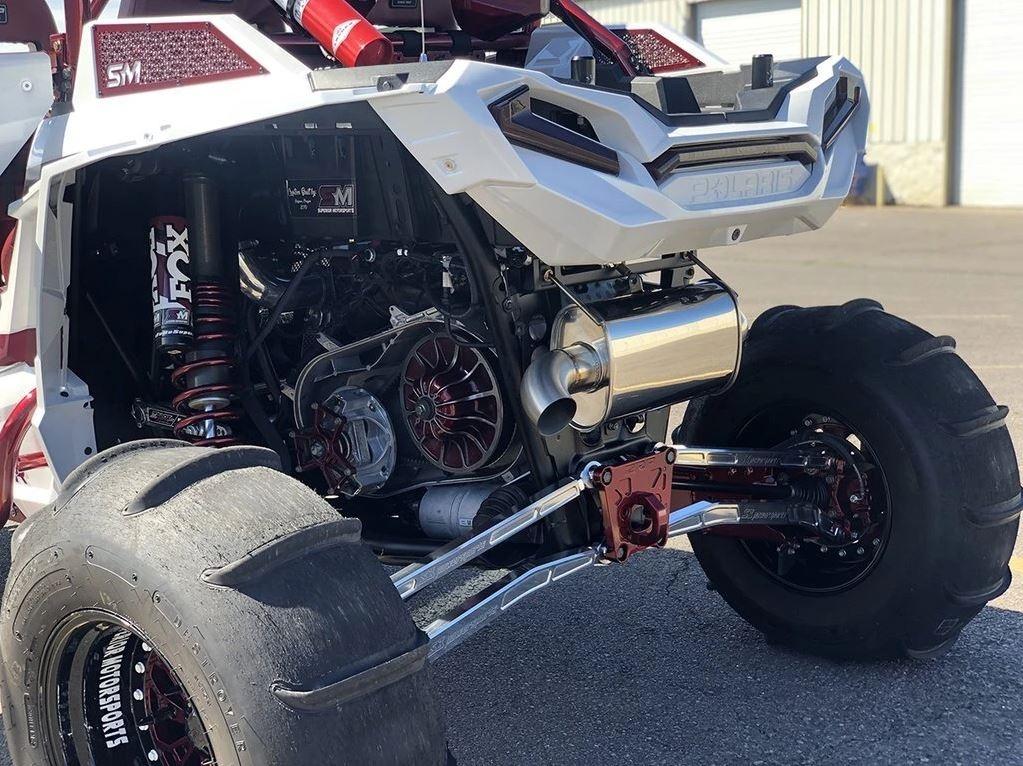 treal performance 2016 2021 polaris rzr xp turbo s slip on exhaust single outlet