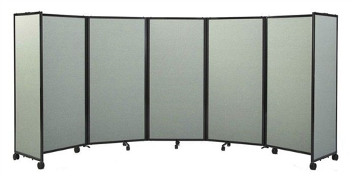 7 6 tall portable room partition 360 on wheels custom printing available