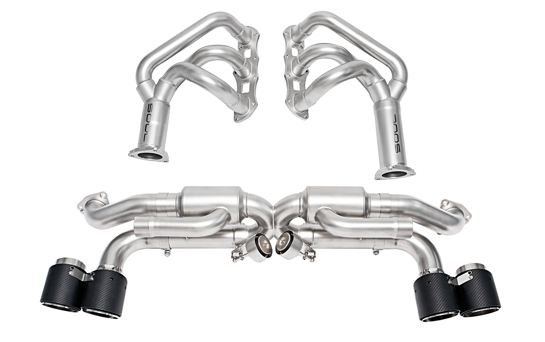 soul performance porsche 991 1 s gts carrera valved exhaust system