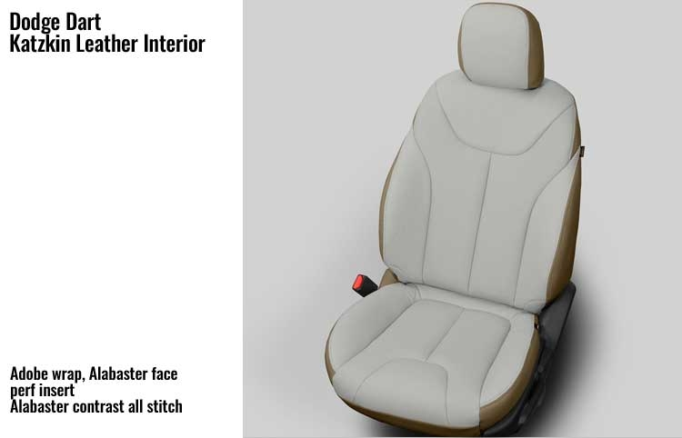 Dodge Dart Se Aero Katzkin Leather Seat Upholstery 2014 2015 2016 Without Passenger Storage Cushion Solid Rear Back Shopsar Com