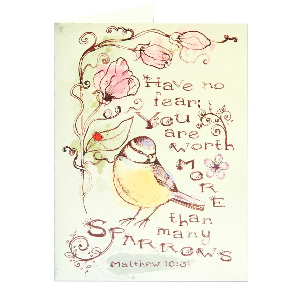 Spiritual Biblical Encouragement JW Greeting Card