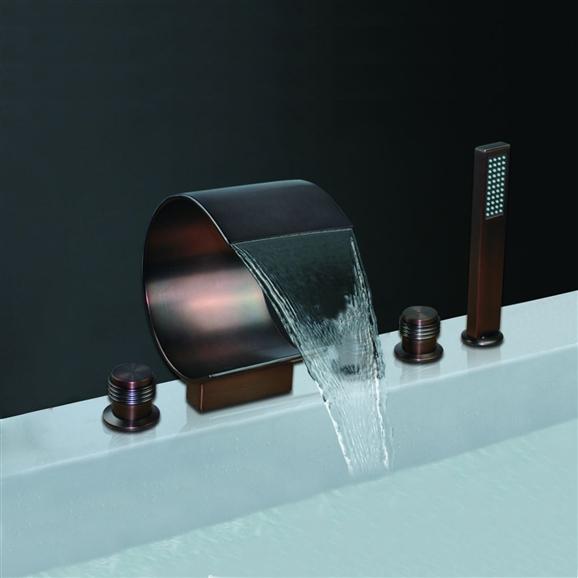 oil rubbed bronze waterfall bathroom faucet bsy 8014r 2