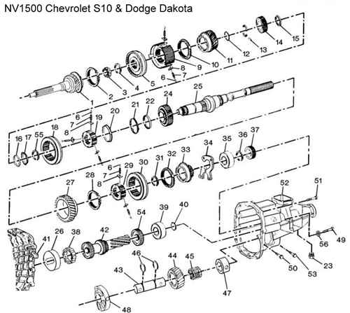 NV1500 S10 Diagram  Drawing  Chevrolet Transmission