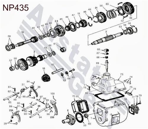 Dodge NP435 Diagram  Drawing  Dodge Transmission Repair Parts