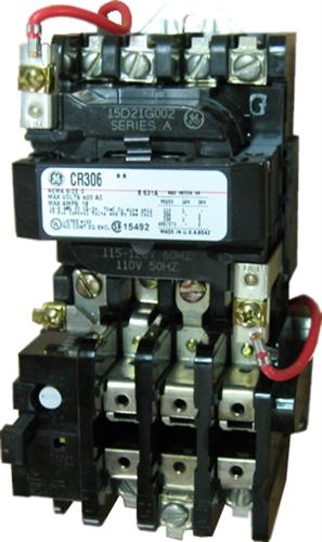 GE CR306C002 NEMA Starter, 27 AMP, 3 Pole with a 115120