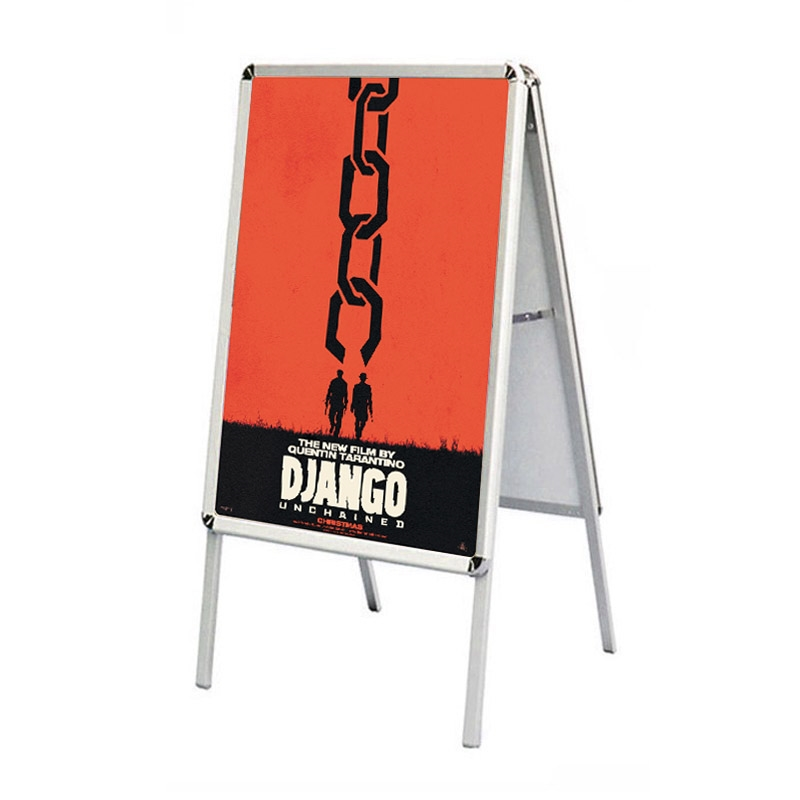a frame snap open sidewalk poster stand easel