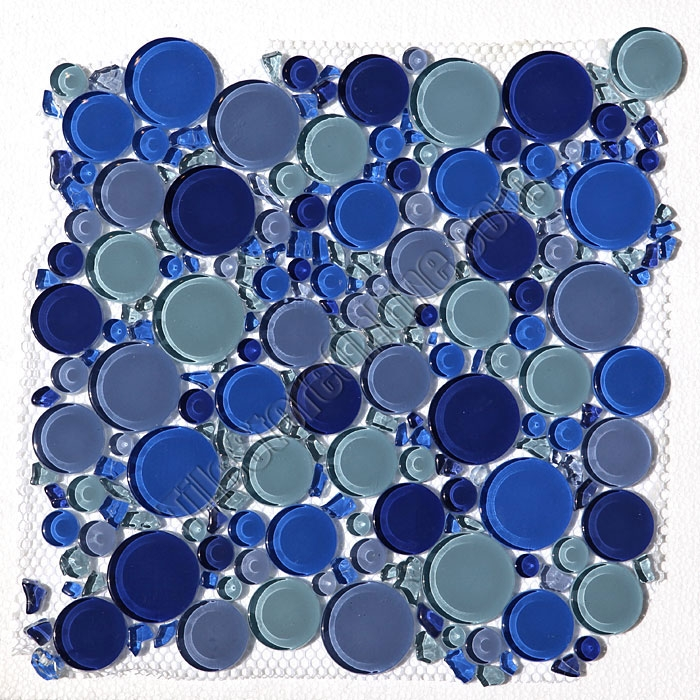 round bubbles glass tile mosaic crystal glass bubbles round mosaic glass tile royalty blue blend glossy glass