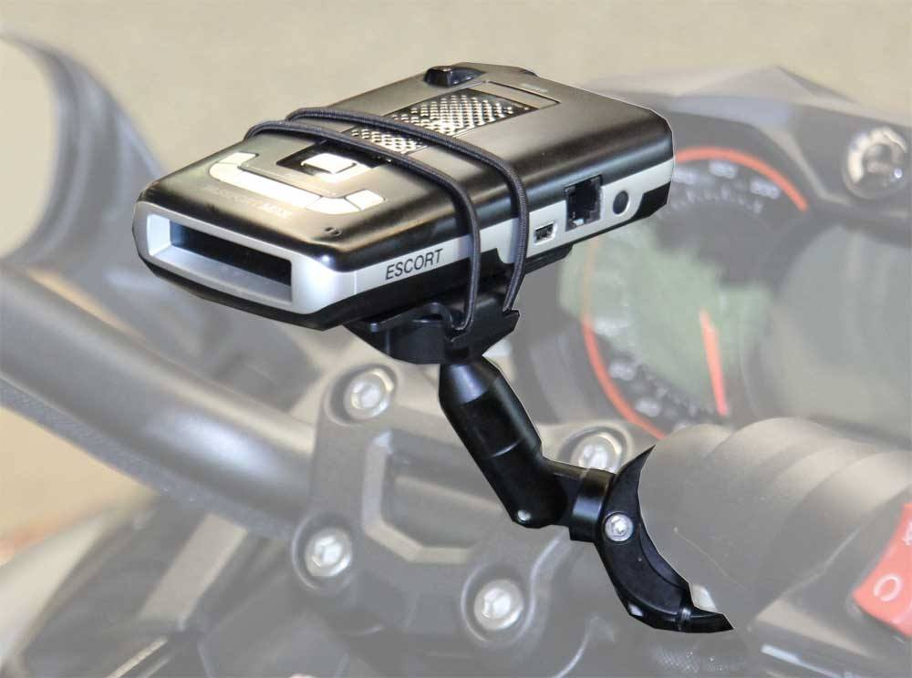 Motorcycle Radar Detector Handlebar Mount With Extension