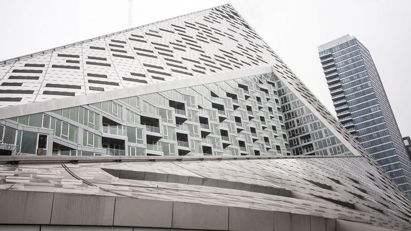 Bjarke Ingelss Tetrahedron Gets A Massive Sculpture