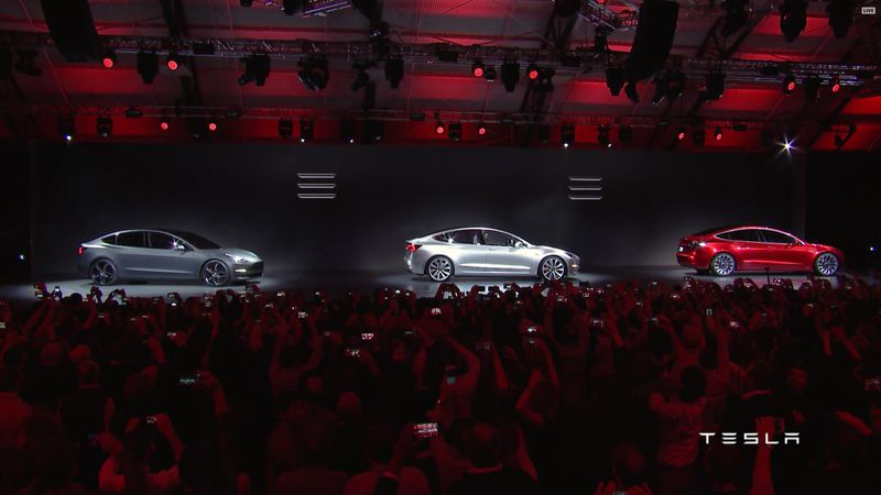 Tesla Model 3 Stream Launch