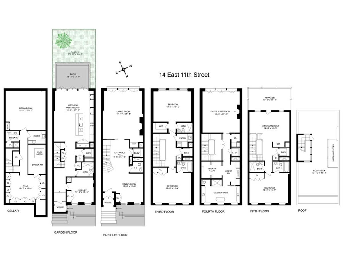 Side Back Floor View Plan And