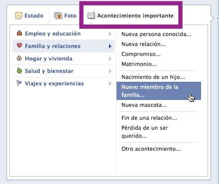 acontecimientos biografia facebook Como personalizar tu Nueva Biografía de Facebook