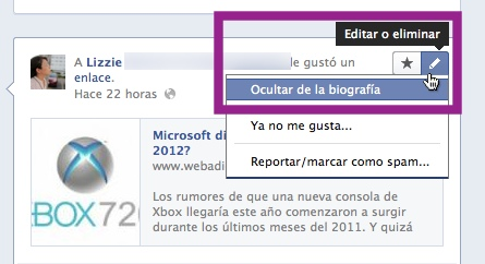 ocultar publicaciones biografia facebook Como personalizar tu Nueva Biografía de Facebook
