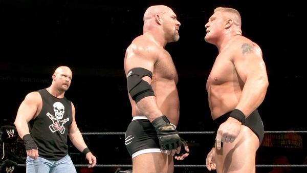 Stone Cold Steve Austin, Goldberg, Brock Lesnar
