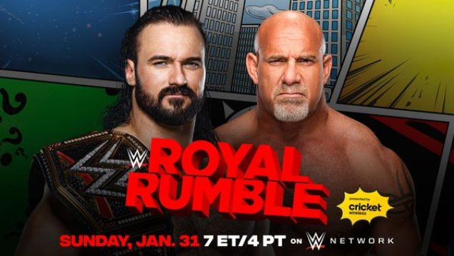 WWE Royal Rumble 2021: Updated Card After Raw