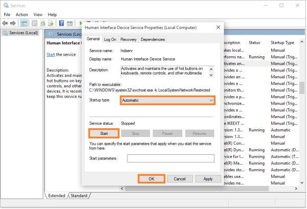 Medientasten - Lokale Dienste anzeigen - Gerätedienst für Benutzeroberflächen - Automatisch - Start - Windows Wally