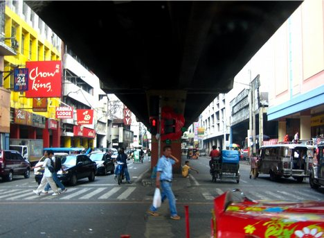 image of Recto and Avenida intersections in Manila