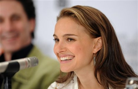 Actress Natalie Portman participates in a news conference for the film