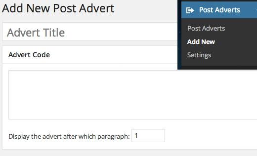 Sisipkan Iklan Posting