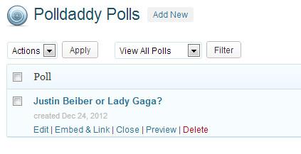 Manage polls