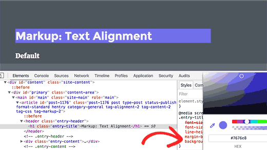 Live CSS changes in the browser screen