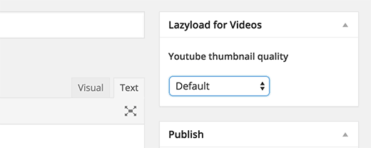 Controlling YouTube thumbnail  quality for posts and pages