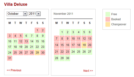 WP Simple Booking Calendar