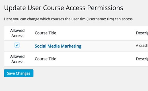 Manually giving or revoking access to a course