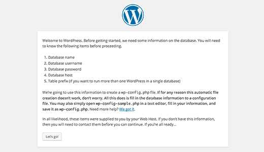 Configuration requise pour l'installation de WordPress