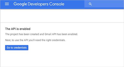 Gmail API Enabled