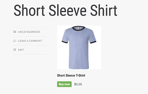 Shopify product embed in WordPress