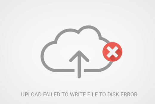 Upload failed error in WordPress