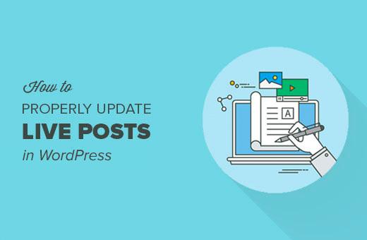 How to update live posts in WordPress