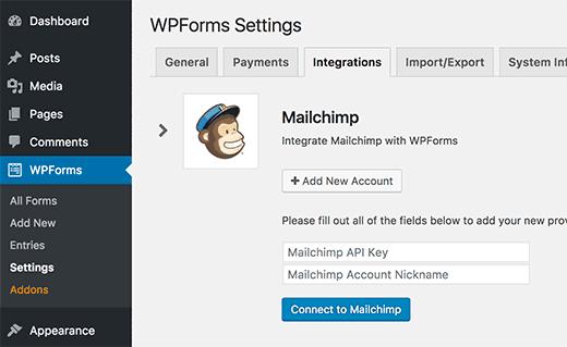 Tích hợp MailChimp