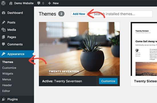 Cambiar el tema de WordPress