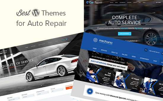 Best WordPress themes for auto repair