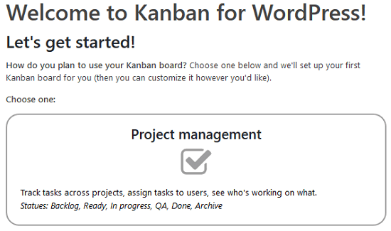 Kanban Boards for WordPress Plugin - Kanban Board Types