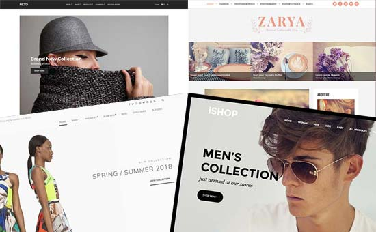 Fashion blog design examples