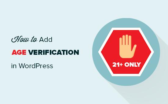Adding age verification to a WordPress website