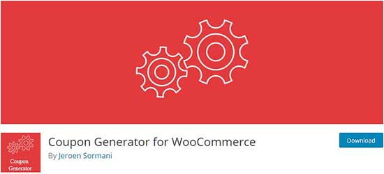 Coupon generator for WooCommerce
