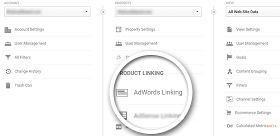 Link AdWords to Google Analytics